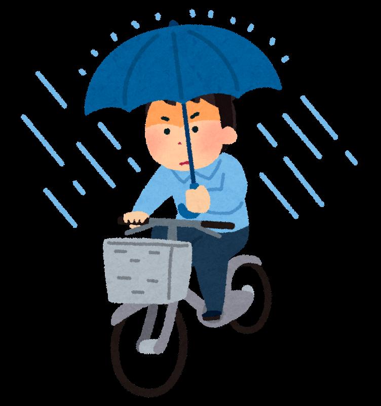 傘差し運転