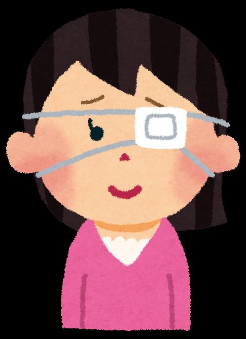 眼帯トレーニング